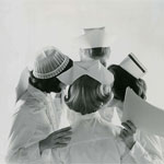 Nurses in caps